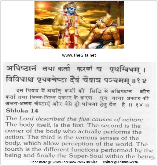 Bhagwad Geeta 18-14- TheGita.net