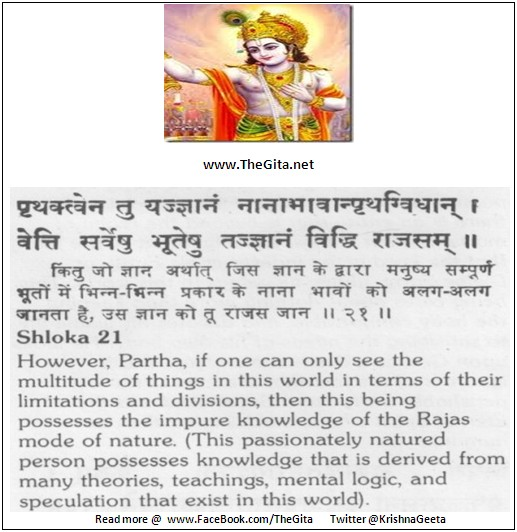 The Gita – Chapter 18 – Shloka 21