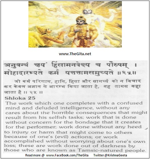 Bhagwad Geeta 18-25- TheGita.net