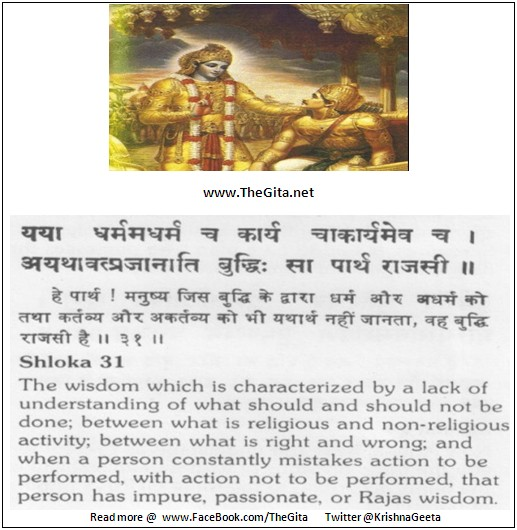 The Gita – Chapter 18 – Shloka 31
