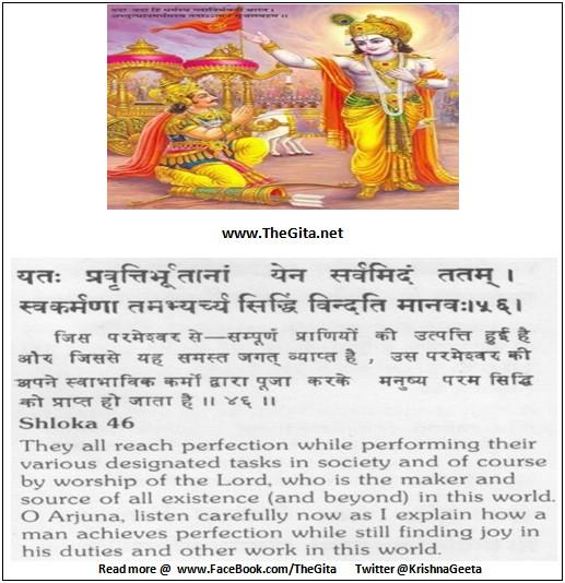 Bhagwad Geeta 18-46- TheGita.net