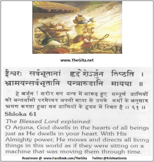 The Gita – Chapter 18 – Shloka 61