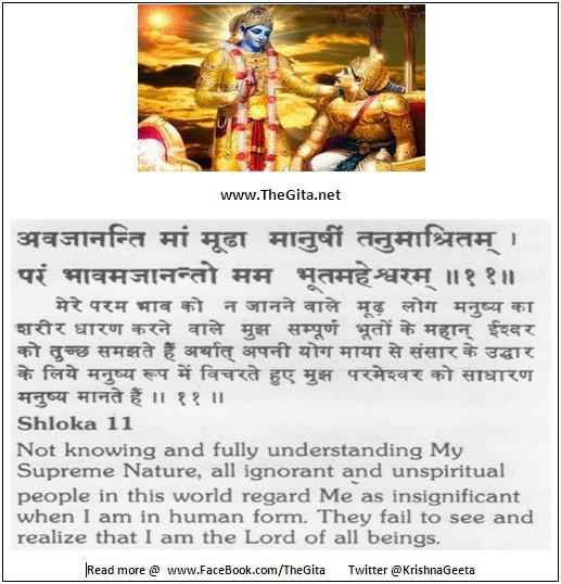 The Gita - Chapter 9 - Shloka 11