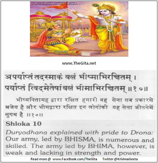 The Gita – Chapter 1 – Shloka 10