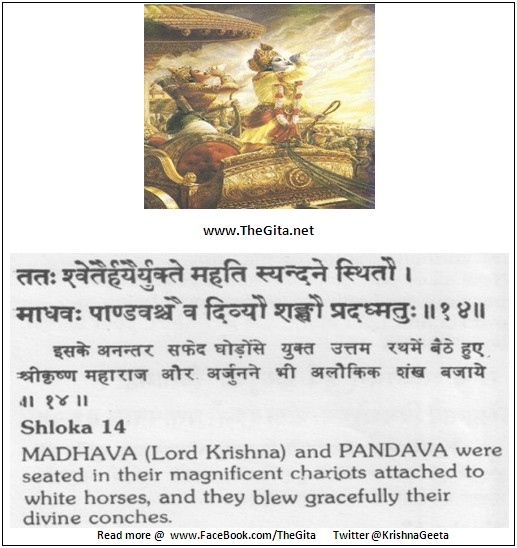 The Gita – Chapter 1 - Shloka 14