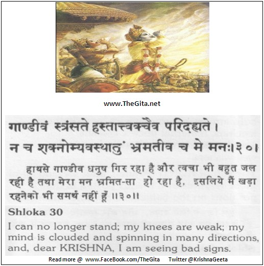 The Gita – Chapter 1 - Shloka 30