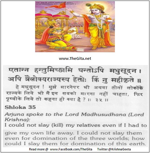 The Gita – Chapter 1 - Shloka 35