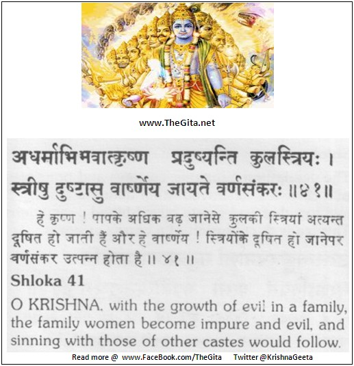 The Gita – Chapter 1 - Shloka 41